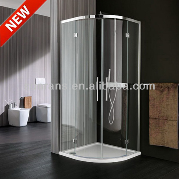 6MM tempered glass shower cabin black framed shower doors