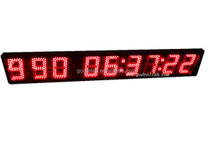 "HRS MINTS SECS Countdown/up Timer 5"" LED Digital Days Countdown/up Clock"