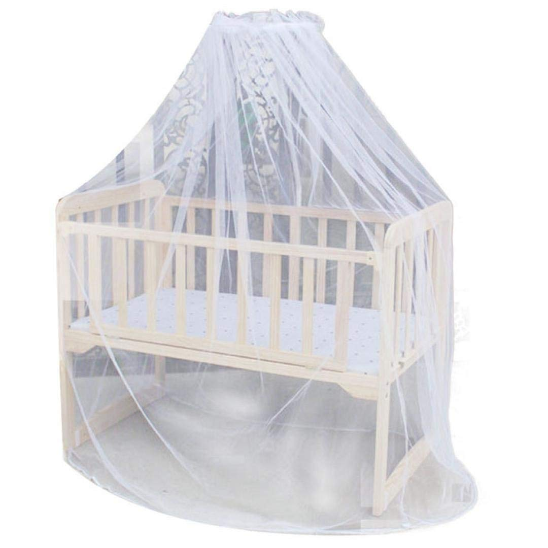 Inverlee Hot Selling Baby Bed Mosquito Mesh Dome Curtain Net for Toddler Crib Cot Canopy (White)