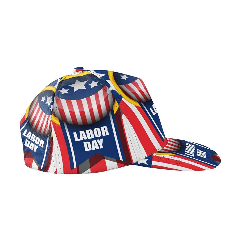 19bb5cb470387 Get Quotations · InterestPrint Labor Day Logo Snapback Hats for Men Hip Hop  Hats Flat Brim Hats Flat Bill