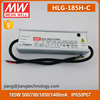 Meanwell 700mA LED Driver HLG-185H-C700A IP65 Dimmable LED Driver 700mA