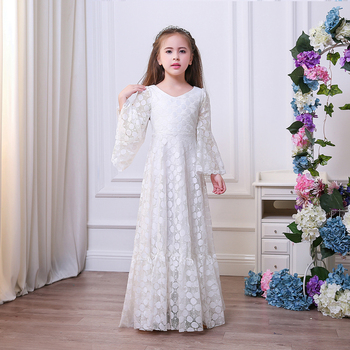 Elegant white tulle flower girl dresses for weddings lace floor long elegant white tulle flower girl dresses for weddings lace floor long kids ball gown new little mightylinksfo