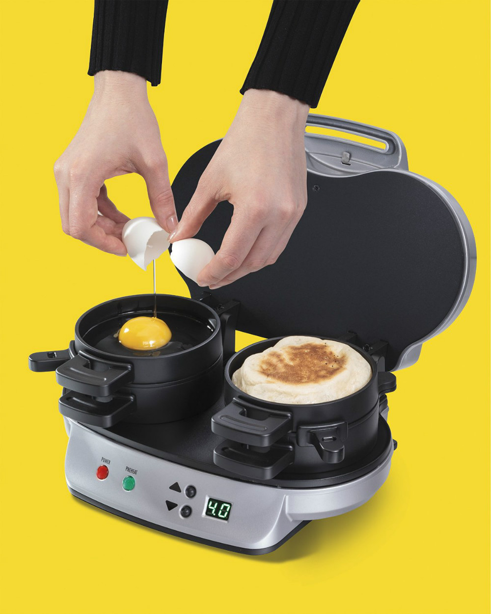 Small Electric Hamburger grill Dual Breakfast Sandwich Maker Electric Burger Maker Grill Toaster
