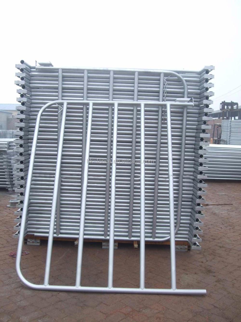 Portable Steel Fencing : Galvanized round pipe portable metal horse livestock farm