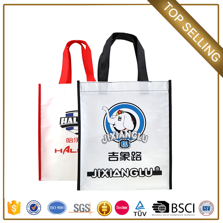 2017 non woven bag manufacturer customize cross body give aways nylon shopping bags