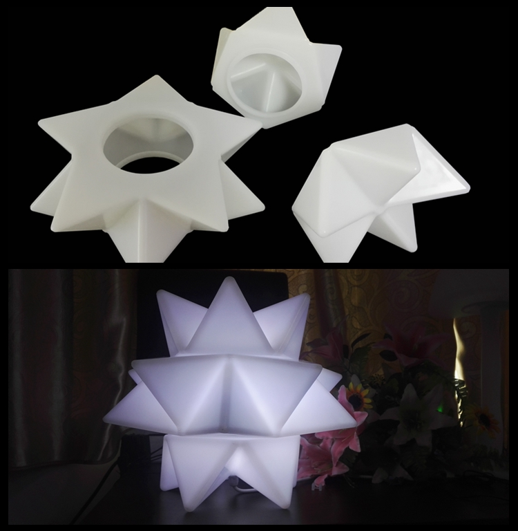Unique Combined LED Light,3 groups PE Plastic decoration led light