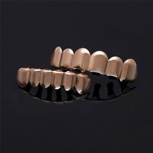 Мужские золотые зубные грили BOAKO Bling Grillz, в стиле хип-хоп, с зубами Rapper, с зубами grillz, в стиле панк, украшения для вечеринок, Z3(Китай)