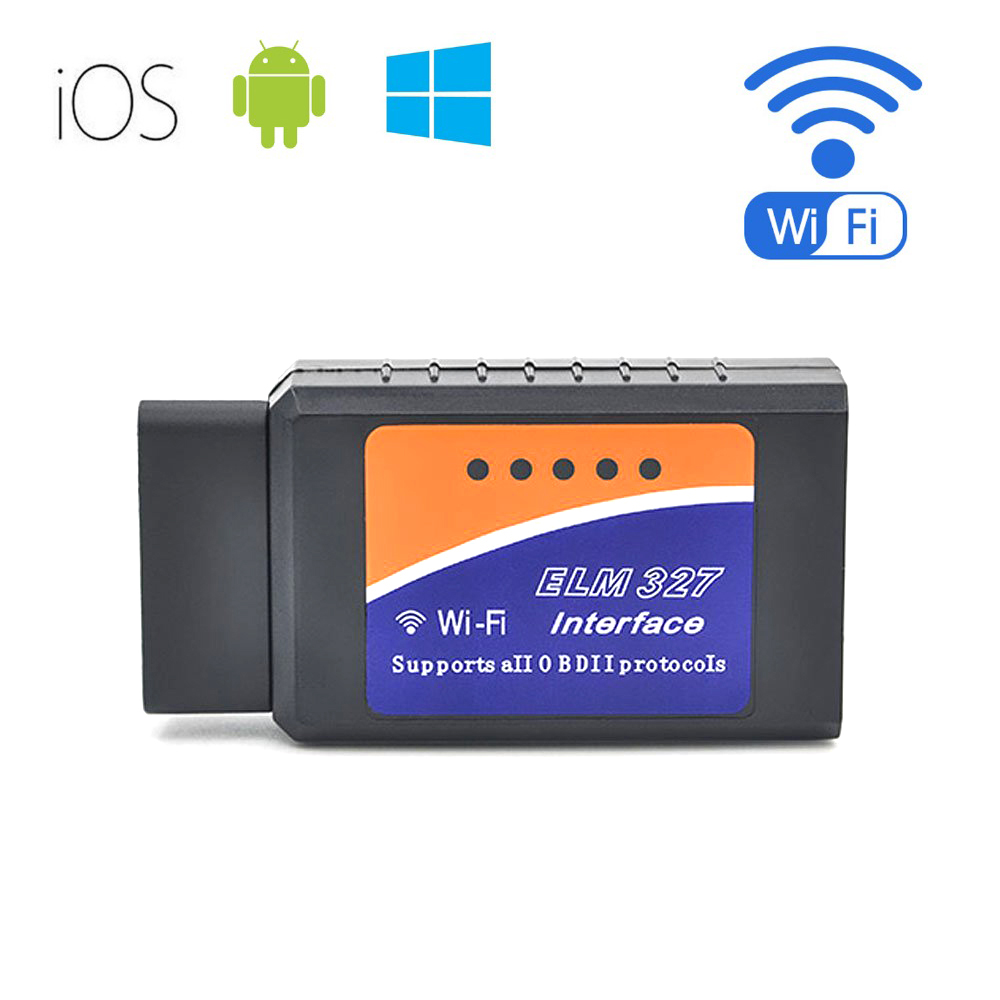 High quality WIFI OBD mini ELM327 scanner adapter WiFi ELM327 OBD 2 II Car Diagnostic Interface