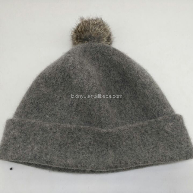 d4c7e4a8f797ff China hand knitted woolen hats animal. products below. light gray women  wool knitted pompom beanie hat