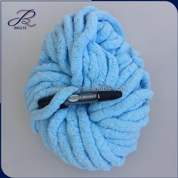 100% Velvet Polyester Chenille Yarn For Hand Knitting Dyed Super ...