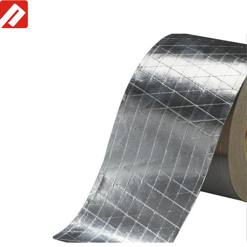 Hot Sale In American !! 3m Equivalent Quality Mylar Reinforced Fiberglass  Aluminum Foil Tape - Buy Fiberglass Aluminum Foil Tape,Mylar Aluminum Foil
