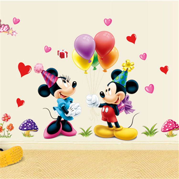 Get Quotations Mickey Mouse And Minnie Wall Sticker Children Room Nursery Decoration Diy Adhesive Mural Removable Vinyl