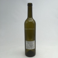 Cork Sealing Type and Glass Material bottle of red wine bottles