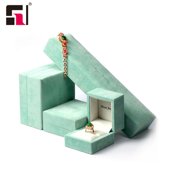 High End Luxury Custom color green velvet Fashion Jewelry box