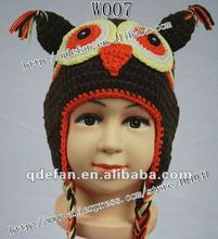 Wholesale baby hats !free shipping knitted cotton hats baby animal caps crochet beautiful baby caps