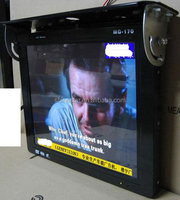 Android wifi 3G 19 inch LCD bus digital poster advertising video display with mounting bracket