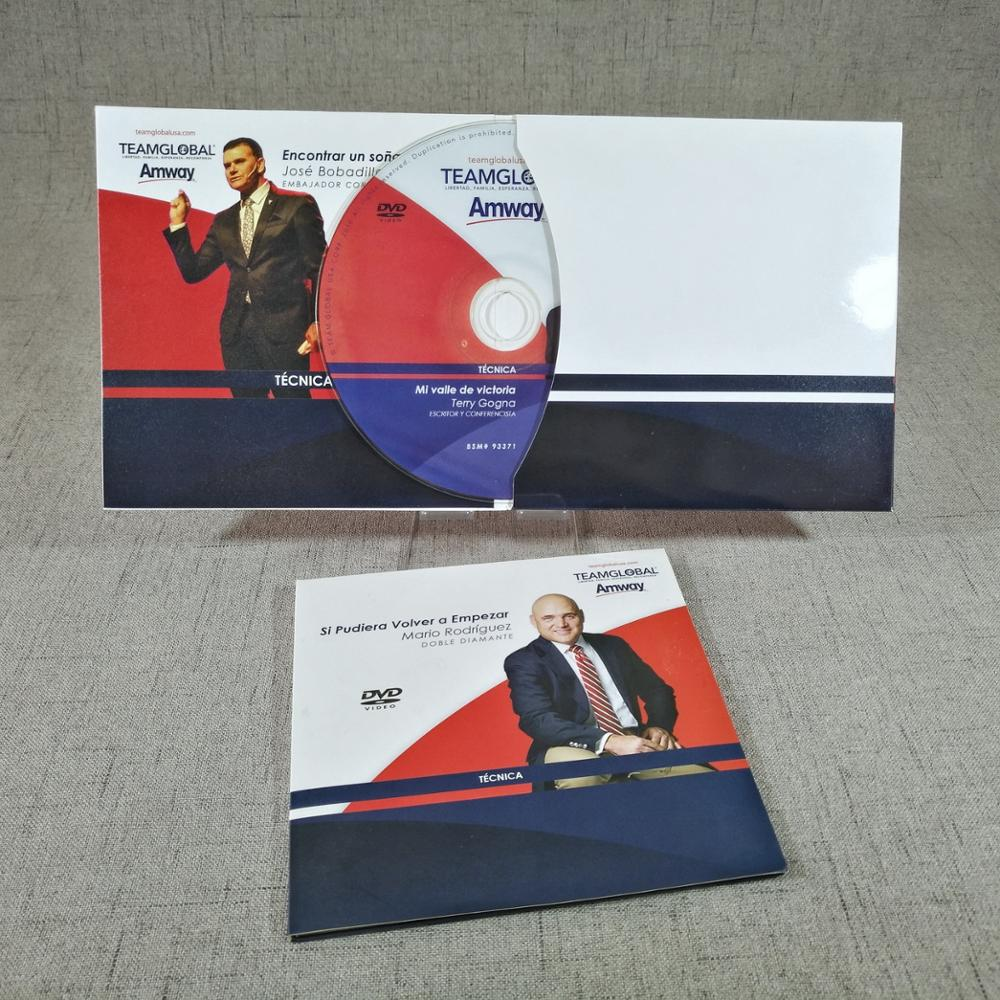Australia Software CD DVD Replication with 6 Panel CD DVD Eco Wallet