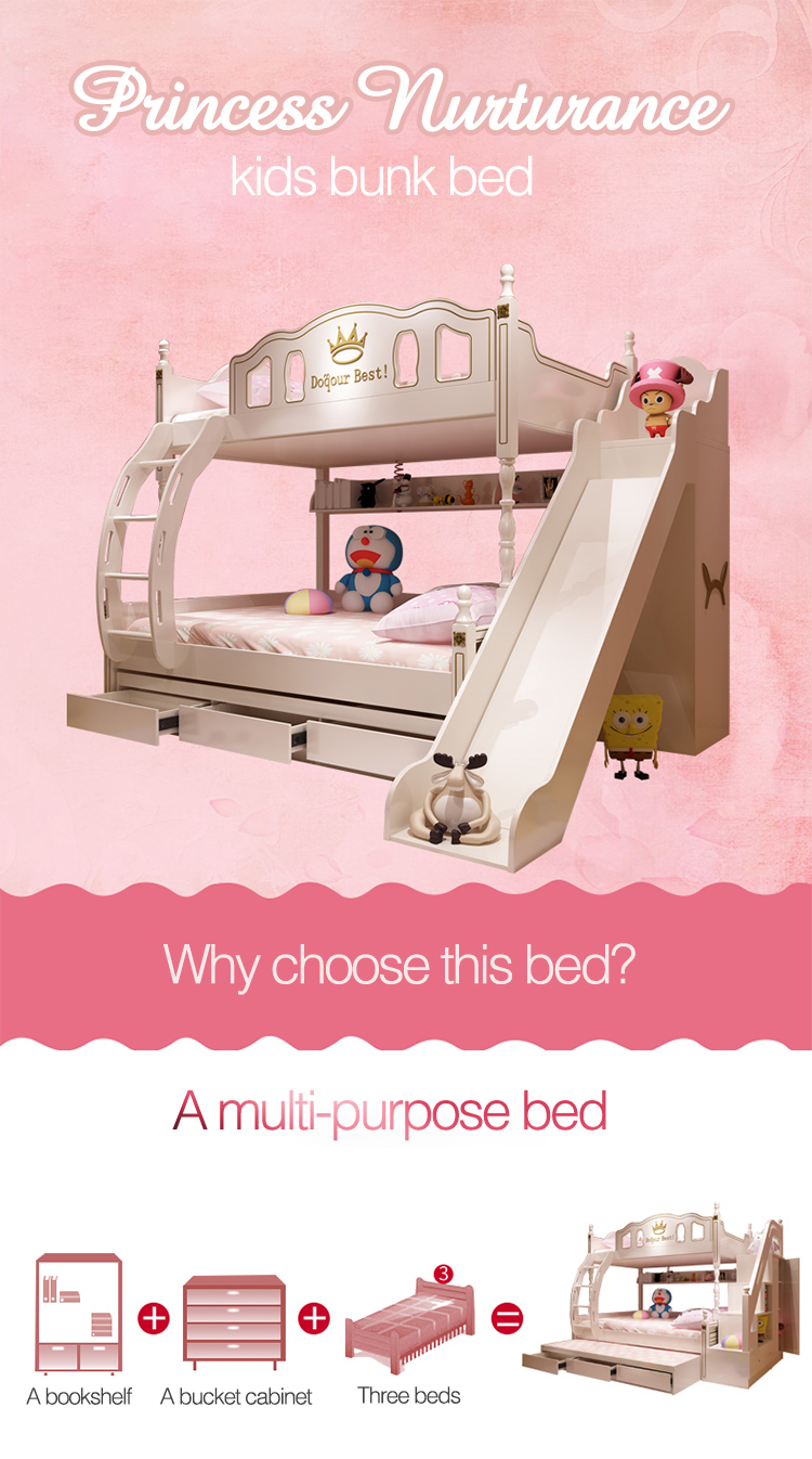 Hot Sale Children Set Princess Bunk Bed With Slide Buy Children Bunk Bed With Slide Bunk Bed Set Hot Sale Bunk Bed Product On Alibaba Com