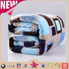 Different size and color check design 1 ply textile home plush blankets outdoor airplane use blanket