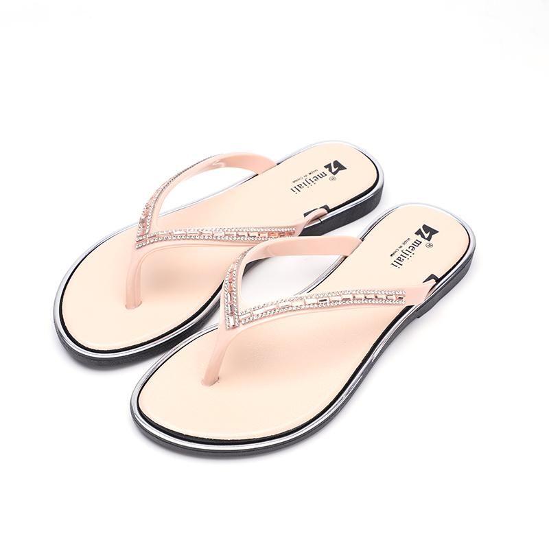bad091a3c6adb Chaussures femme Sandale Personnalisé Imprimé Dame Plat Décontracté Plage  ...
