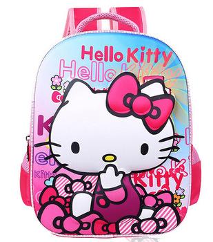 3 D Eva Nylon Kids School Bag Children Bag,Hello Kitty A Primary ...