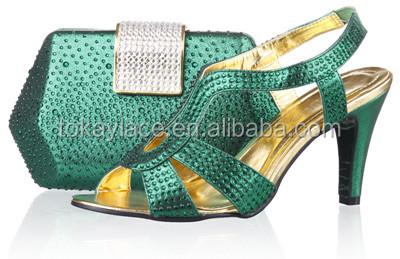 party bag amp; fashion ladies for italian mathing shoes green x8YzwCq6