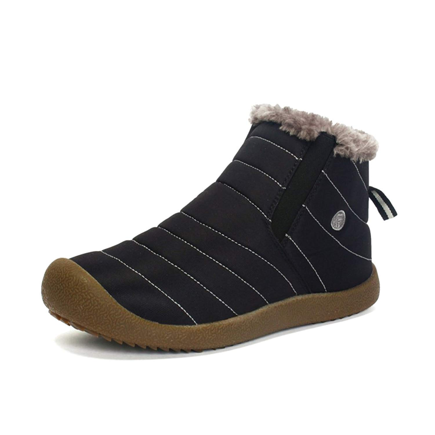 939aa7f8cc412b Sanyge Men's Fully Fur Lined Snow Boots Waterproof Warm Ankle Boot Non-Slip  Winter Shoes