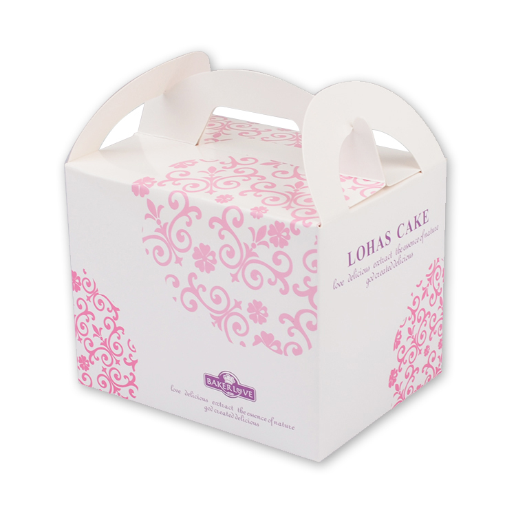 New arrival pink flower paper cake box/box packaging design for cake/cake carrying box/cake boxes wholesale box#KZ-0098