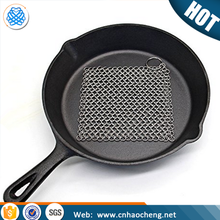 Chinese gold supplier 304 316 316L stainless steel chainmail scrubber/cast iron cookware cleaner net