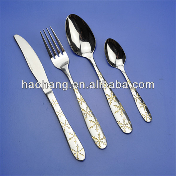 4pcs used restaurant stainless steel wholesale tableware