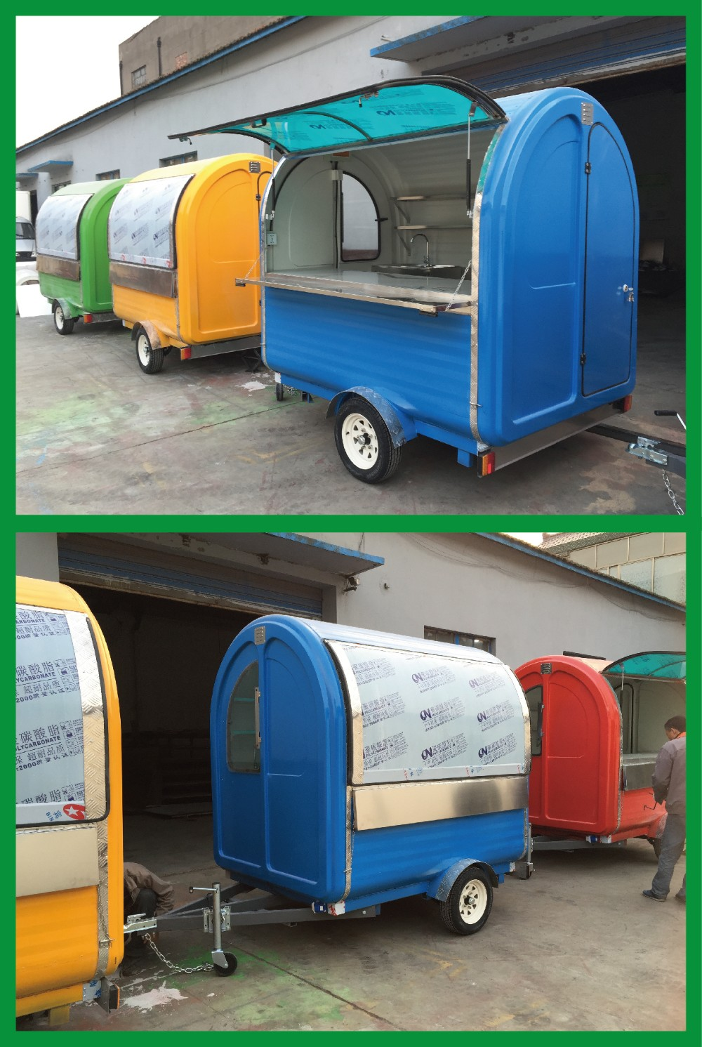 2015 Hot Sales Best Quality Petrol Tricycle Food Booth Used Food ...