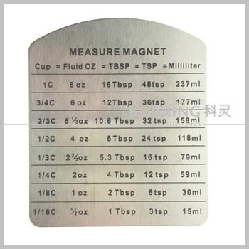 Kearing Oem Stainless Steel Liquid Measure Refrigerator Magnet Kr 2030