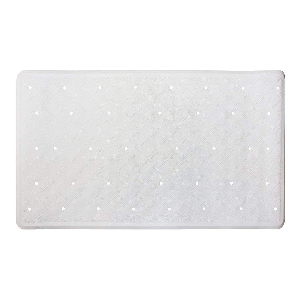ANSIO Bath Mat, Bathtub Mat, Shower Mat, Bath Mats for Tub, Non Slip Bath Mat, Shower Mats Non Slip Mildew Resistant, Anti-Bacterial Natural Rubber Tub Mat- 40 x 70 cm/15.8 x 27.7 inches -White