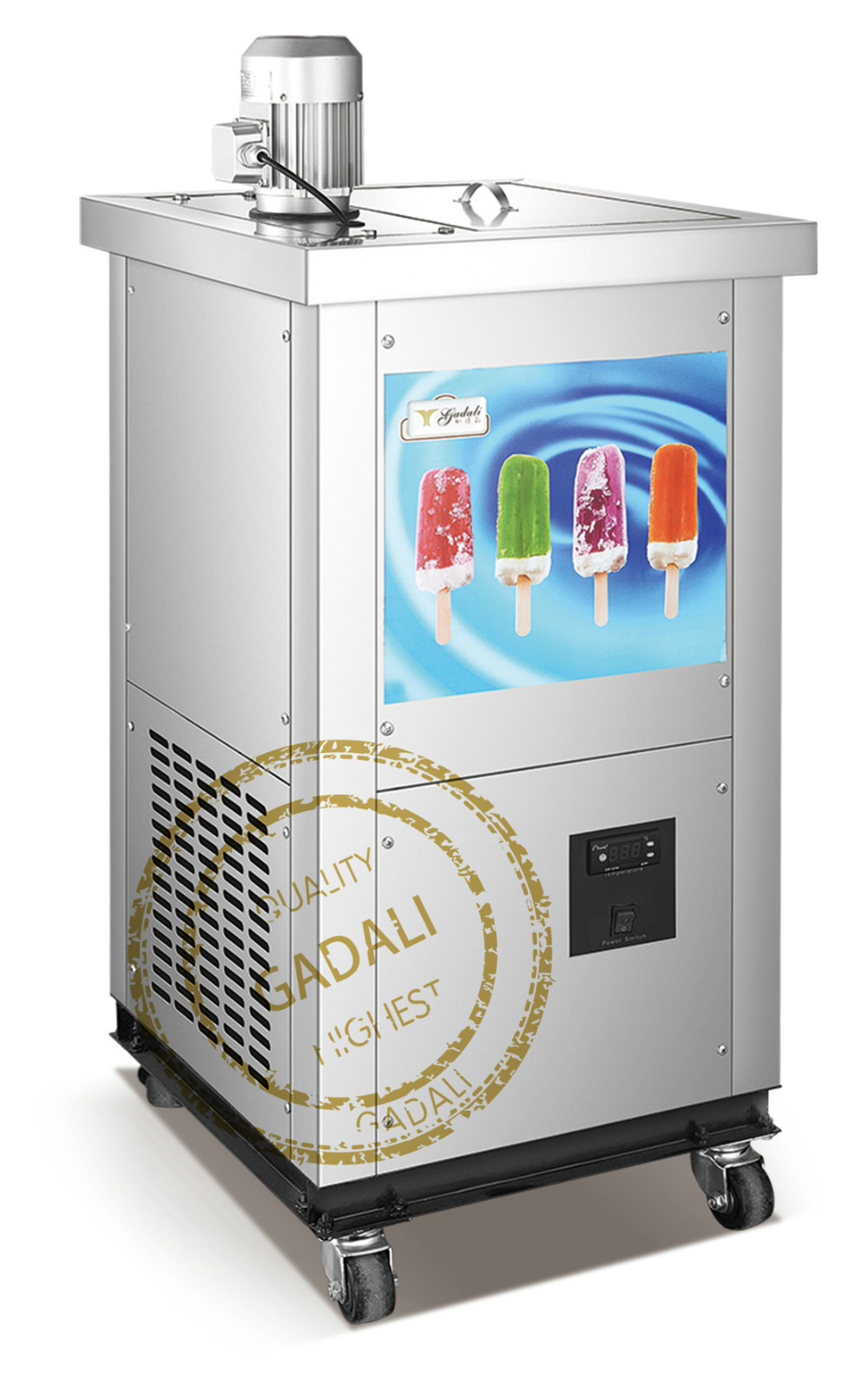 2017 Hot Sale CE approved stainless steel 2 moulds commercial ice-cream popsicle machine(ZQR-02)