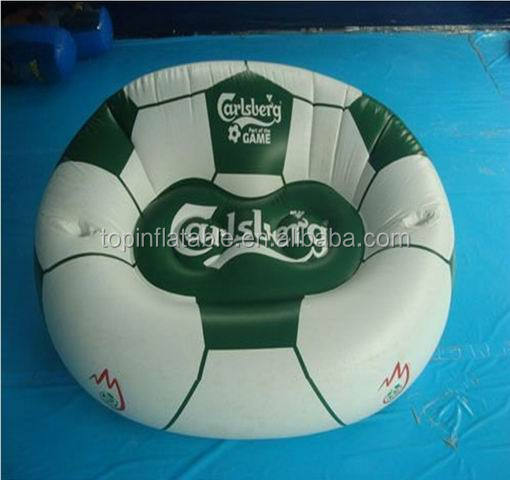 Customized inflatable armchair AIR sofa seat with foot rest lounger relax