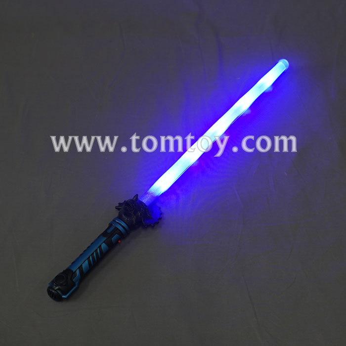 LED Flashing Light up Dinosaur Toy Sword with Sound