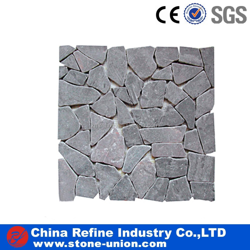 Natural stone exterior wall cladding grey slate mosaic factory