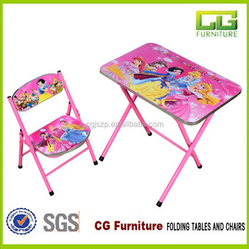 Hot Sale Children Furniture Kids Folding Table And Chair Sets