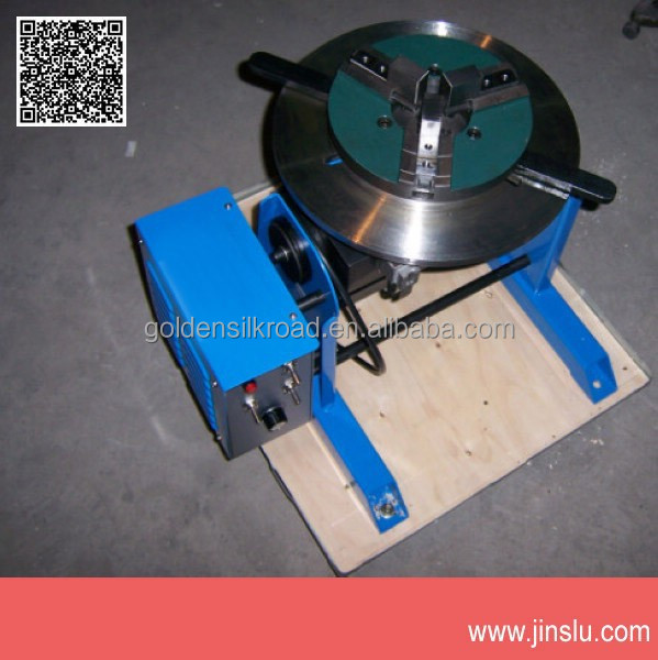 30kg welding positioner for circle workpiece with WP-200 lathe chucks come with foot pedal