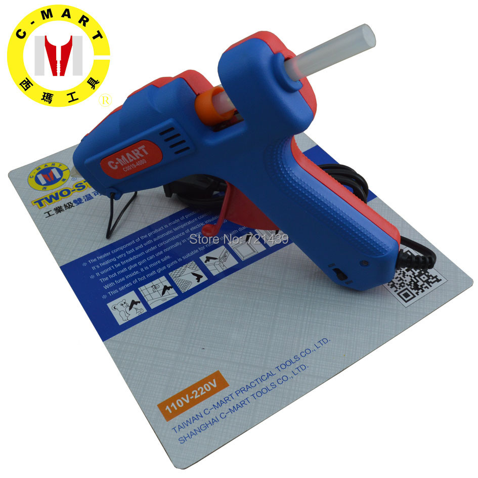 C-MART tools40~80W 110-240V Two step hot melt glue gun Professional Mini Electric Heating Hot Melt Glue Gun  Free Shipping C0019