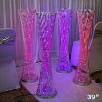 "39"" tall LED Lights Spiral Tower Centerpiece For Wedding Party Home Decorations"