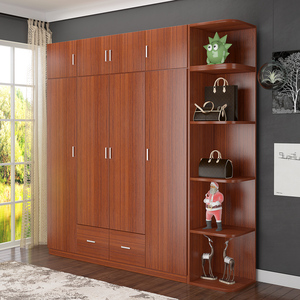 Incroyable Wooden Clothes Wardrobe Movable Armoire Closet Cabinet
