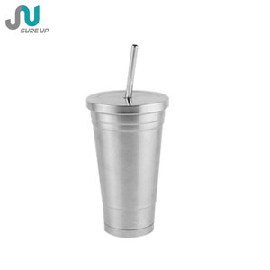 High quality tumbler double wall stainless steel coffee tumbler with straw(MSAV)