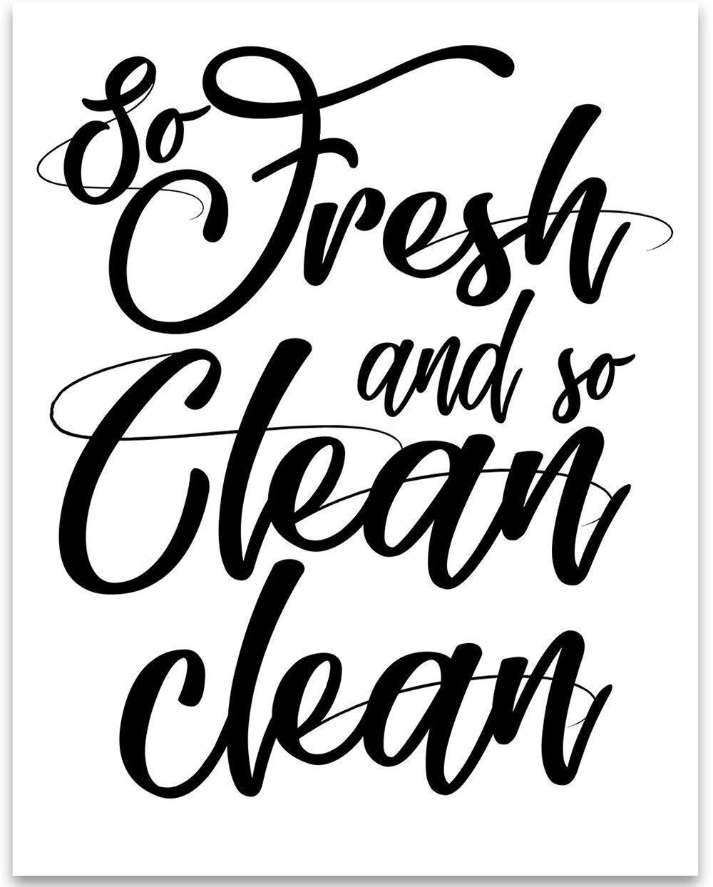cheap clean decor find clean decor deals on line at alibaba Cheap Ink Cartridges get quotations so fresh and so clean clean 11x14 unframed typography art print great bathroom decor