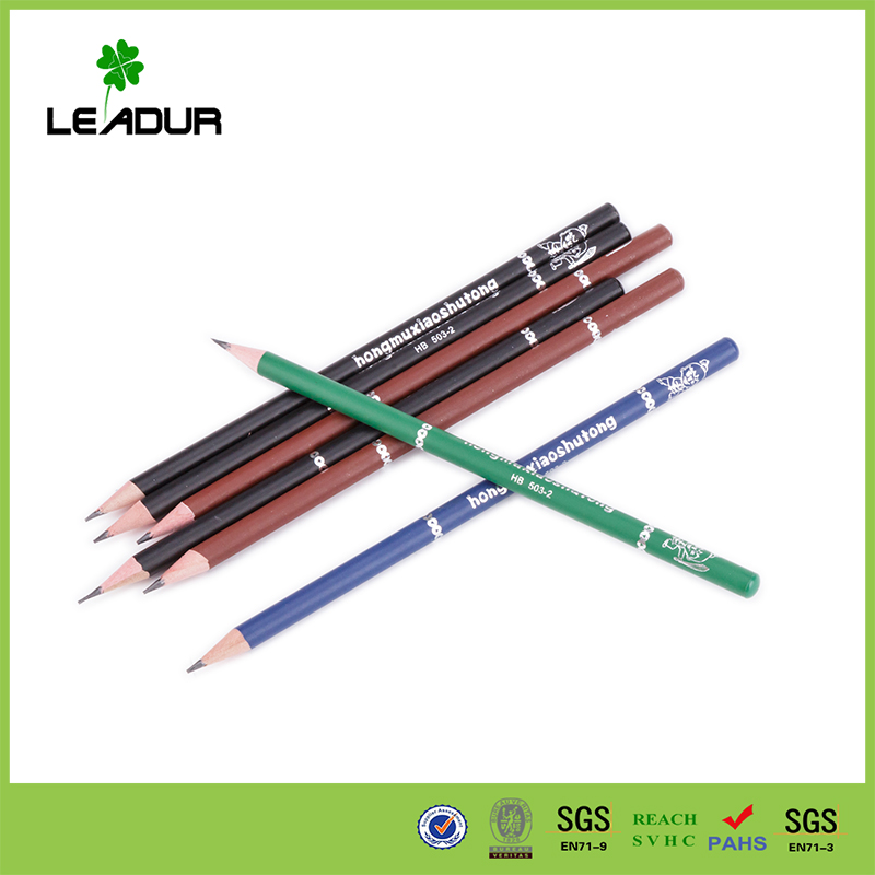 High Quality Black lead HB Pencil with round printing