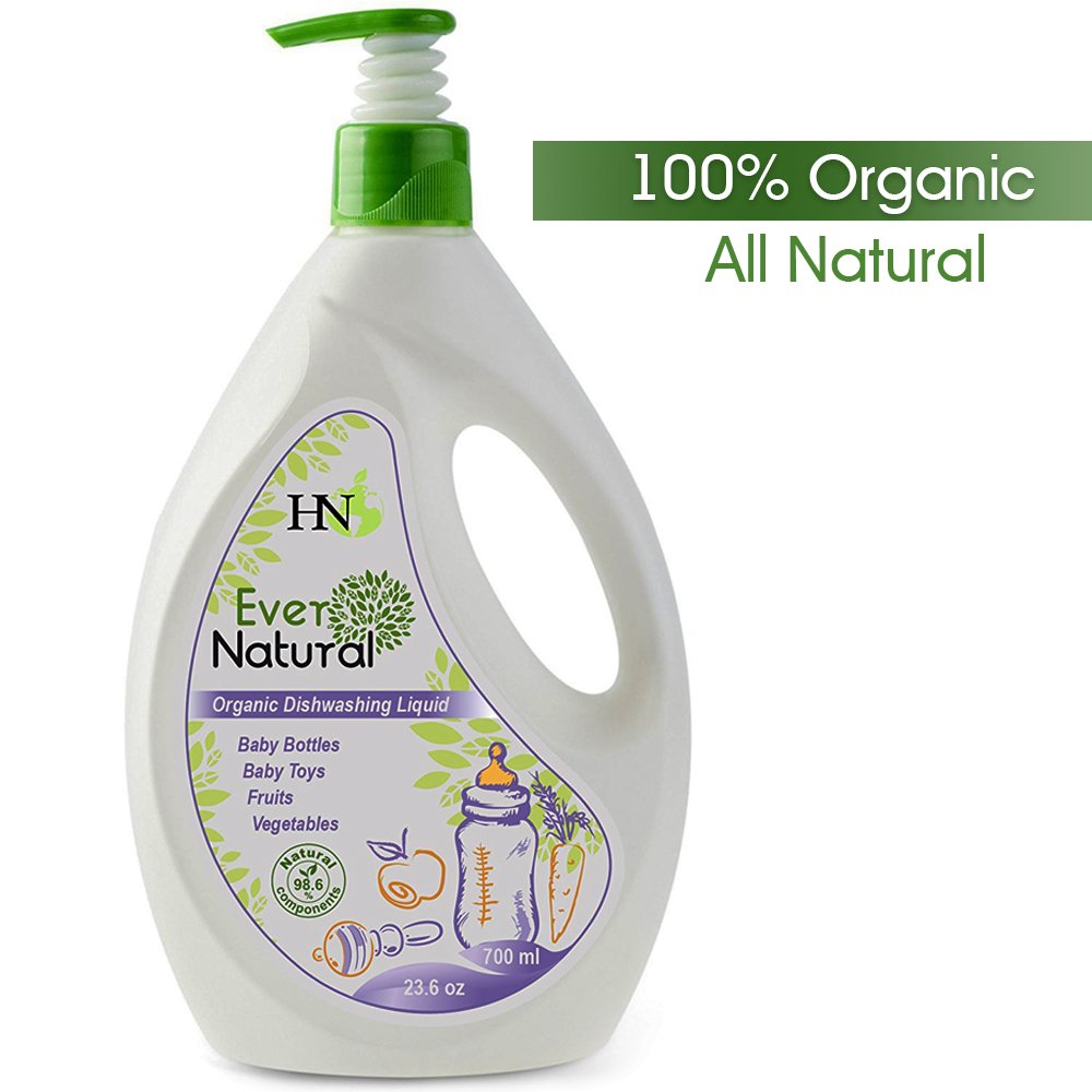 Organic Baby Dishwashing Cleaning Liquid - Fruit and Vegetable Washing Liquid Safe for Kids Adults - Dishwasher Detergent Liquid for Baby Bottles Toys and for Fruits and Vegetables Baby Guard, 23.6 oz