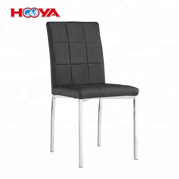 Black Elegant Design PU Leather Dining Side Chairs