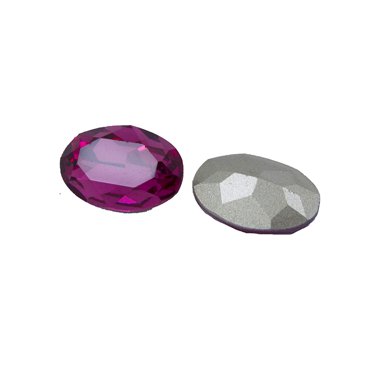 Glass rhinestones oval crystal <strong>stones</strong> for clothes decoration