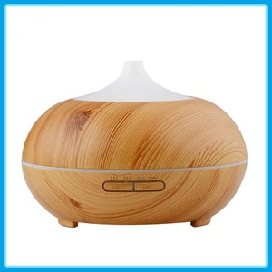 2018 Hot Sales Humidifier Oil Diffuser Ultrasonic Aroma Diffuser 300ml Wood Grain Mini Humidifier