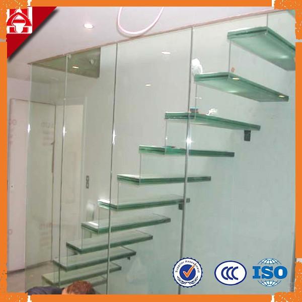 Cristal templado escaleras vidrio templado para edificios - Escaleras de cristal templado ...